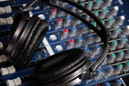 music mixing board