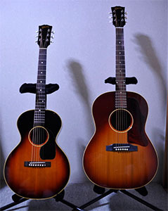different size guitars