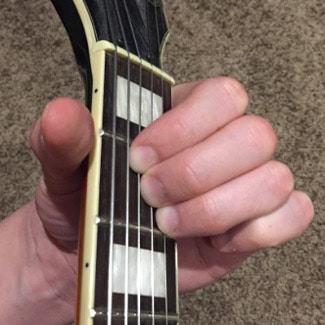 A Chord guitar Picture A major