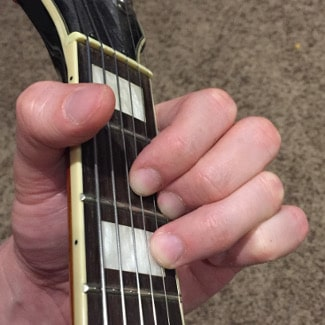 D Major Chord Picture