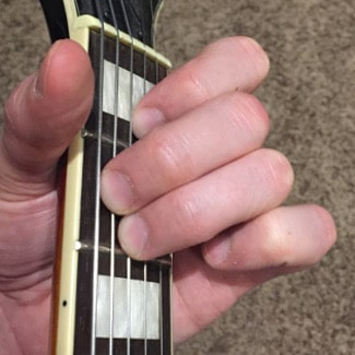 E Major Chord Picture