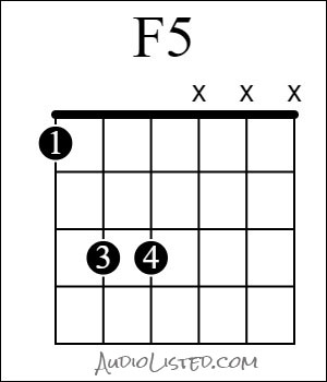 F 5 Chord Power With Octave 1st Fret 6th String Root