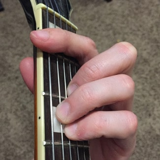 F Major Chord Picture