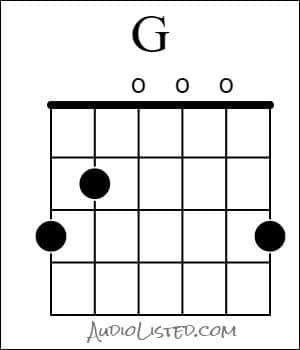 G Major Chord Open