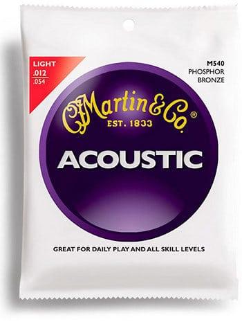 Martin M540 Phosphor Bronze Acoustic Guitar Strings, Light