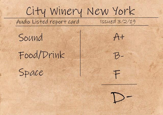 City Winery NYC score card