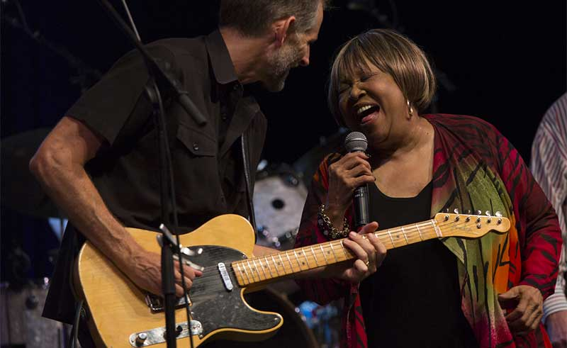 mavis staples on stage